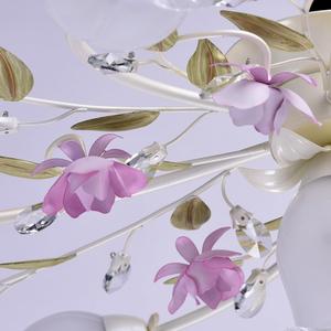Závěsná lampa Provence Flora 7 bílá - 422010607 small 10
