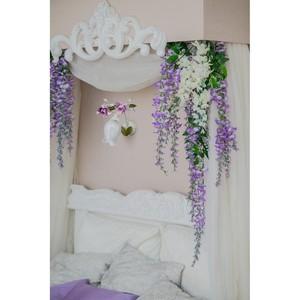 Nástěnná lampa Provence Flora 1 bílá - 422020801 small 1