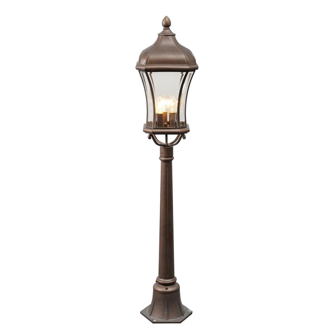 Zahradní lampa Chateau Street 3 Hnědá - 800040203