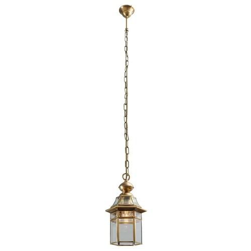 Zewnętrzna lampa wisząca Corso Street 1 Mosiądz - 802010101
