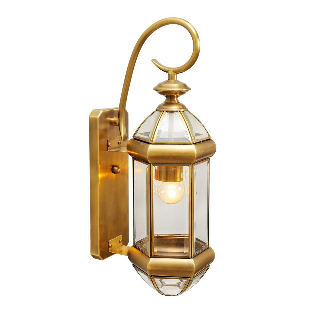 Venkovní nástěnná lampa Corso Street 1 Mosaz - 802020401