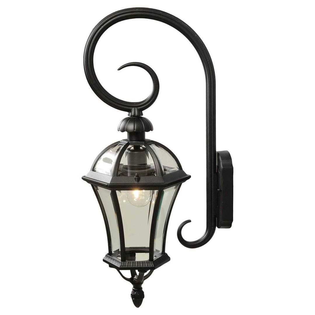 Venkovní nástěnná lampa Sandra Street 1 Černá - 811020401
