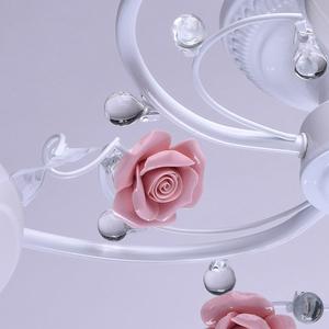 Závěsná lampa Provence Flora 5 bílá - 422010405 small 12