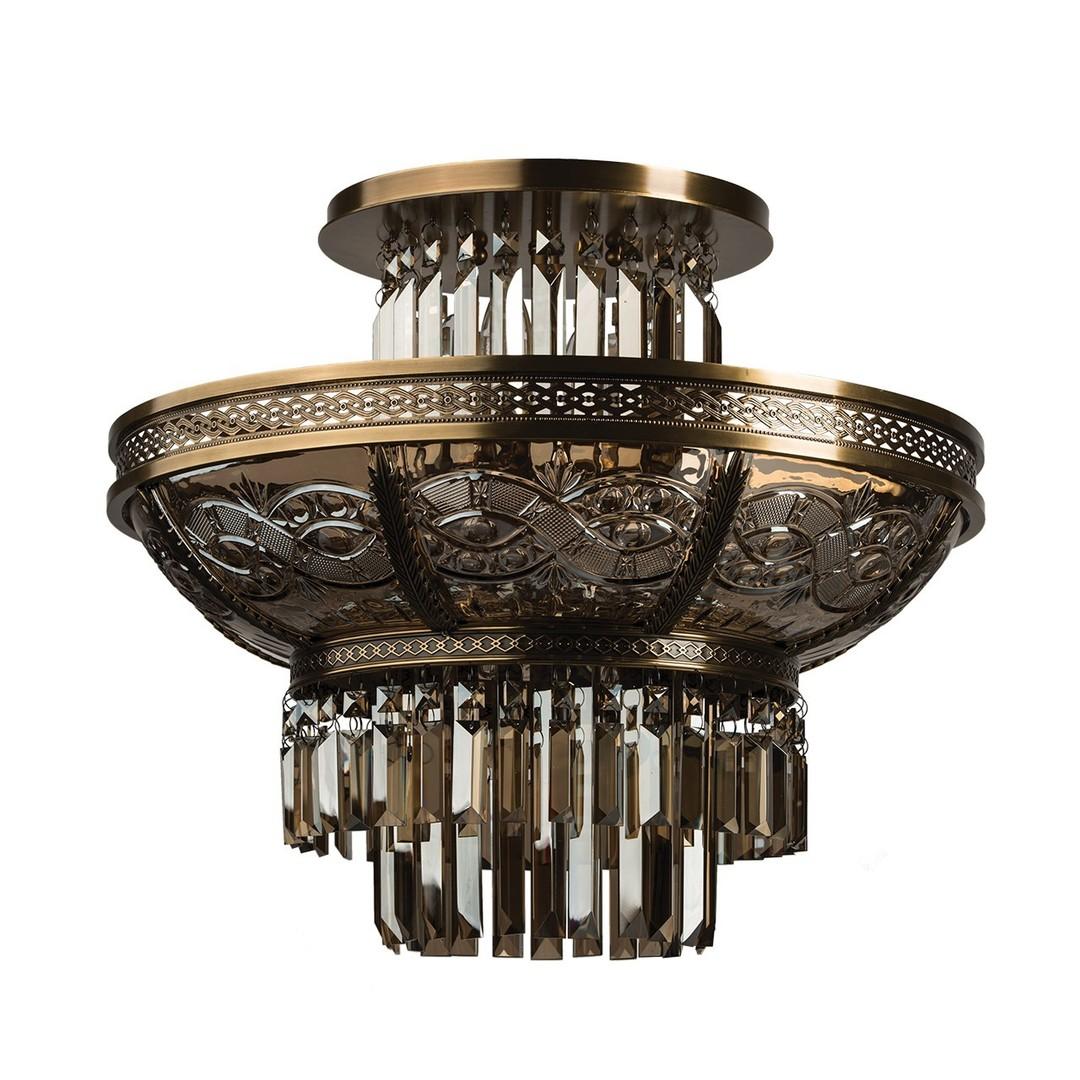 Závěsná lampa Diana Crystal 8 Mosaz - 340011308
