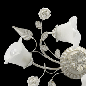 Závěsná lampa Verona Flora 4 bílá - 242014704 small 10