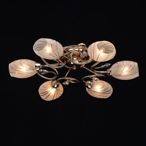 6 zlatých stropních svítidel Sabrina Megapolis - 267012106
