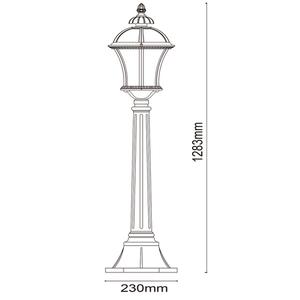 Zahradní lampa Sandra Street 1 Černá - 811040501 small 2