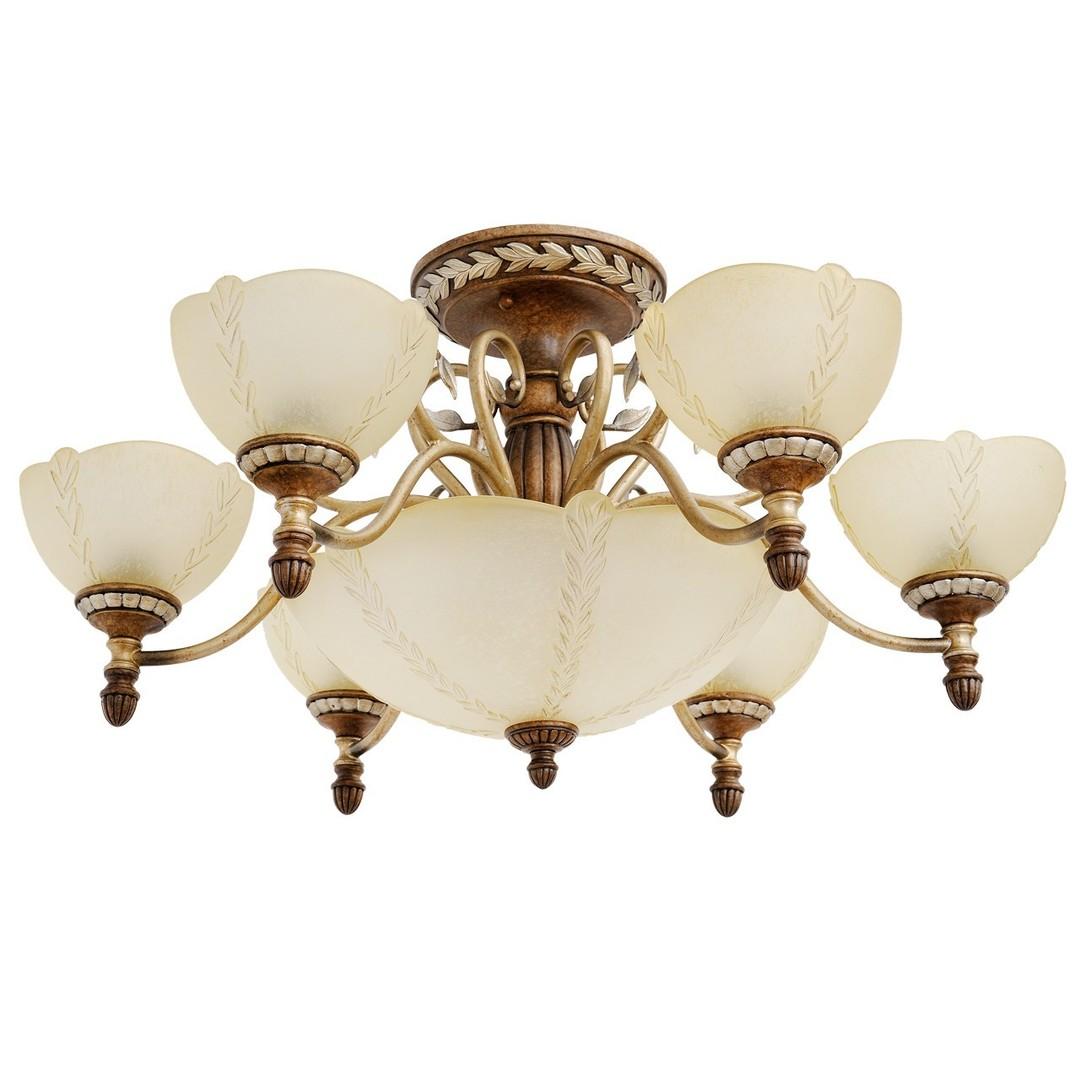 Závěsná lampa Bologna Country 9 Brown - 254012909