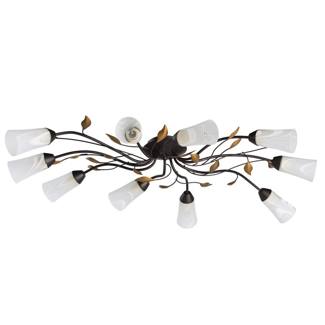 Závěsná lampa Verona Flora 10 Hnědá - 242015410