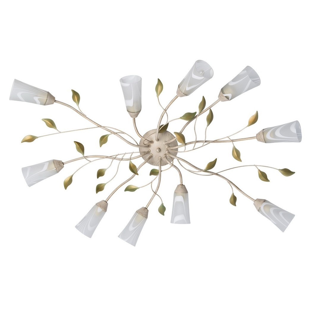 Závěsná lampa Verona Flora 10 Béžová - 242015510