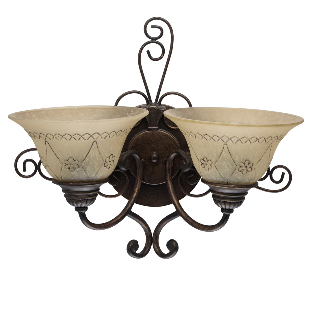 Nástěnná lampa Magdalena Země 2 Hnědá - 382022902