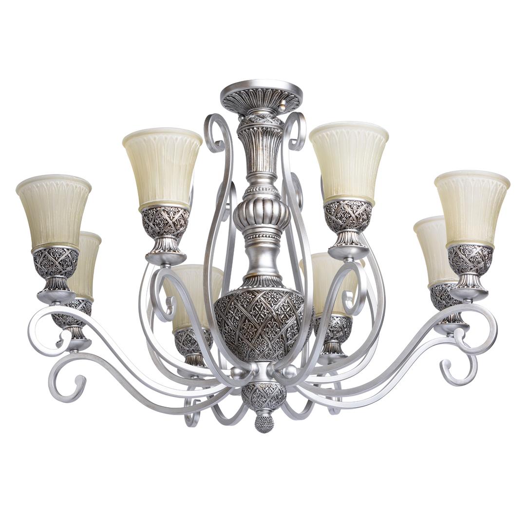 Závěsná lampa Bologna Country 8 Silver - 254010908