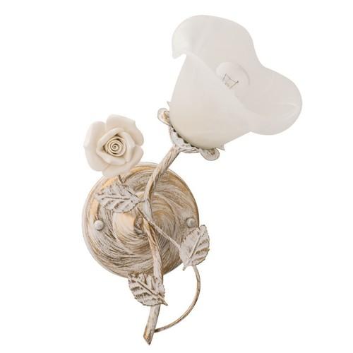 Nástěnná lampa Verona Flora 1 bílá - 242026101