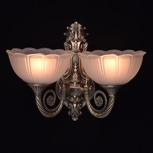 Nástěnná lampa Athena Classic 2 Mosaz - 357020402 small 1