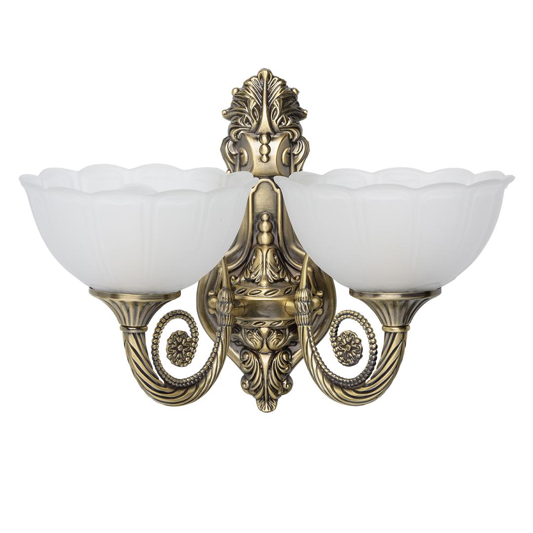 Nástěnná lampa Athena Classic 2 Mosaz - 357020402
