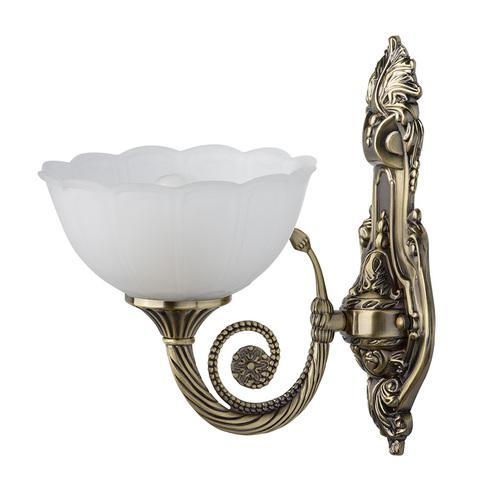 Nástěnná lampa Athena Classic 1 Mosaz - 357020301