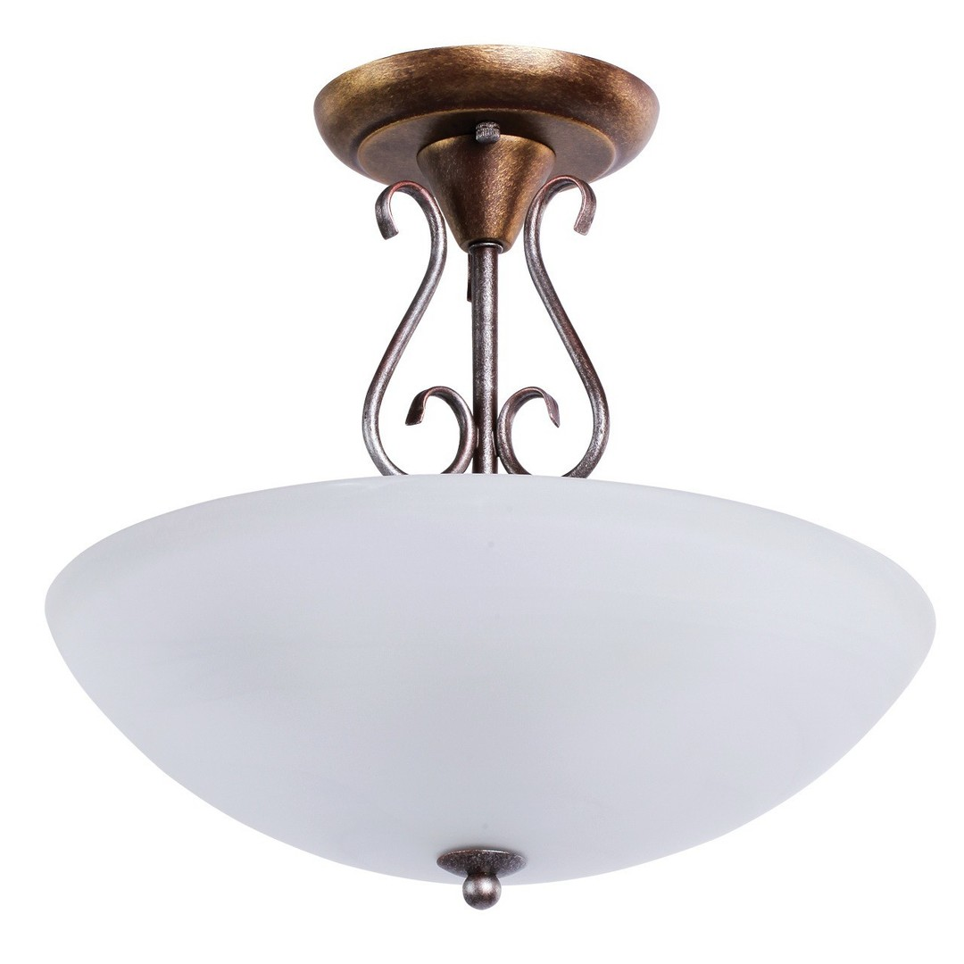 Závěsná lampa Aida Země 3 Hnědá - 323012603