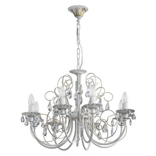 Lustrová svíčka Classic 8 bílá - 301015308