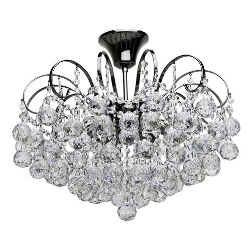Pearl Crystal 6 závěsná lampa šedá - 232016306