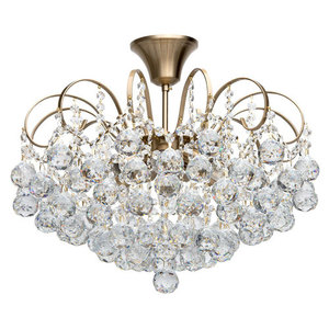 Glamour obývací pokojová lampa Pearl Crystal 6 Brass - 232016506 small 0