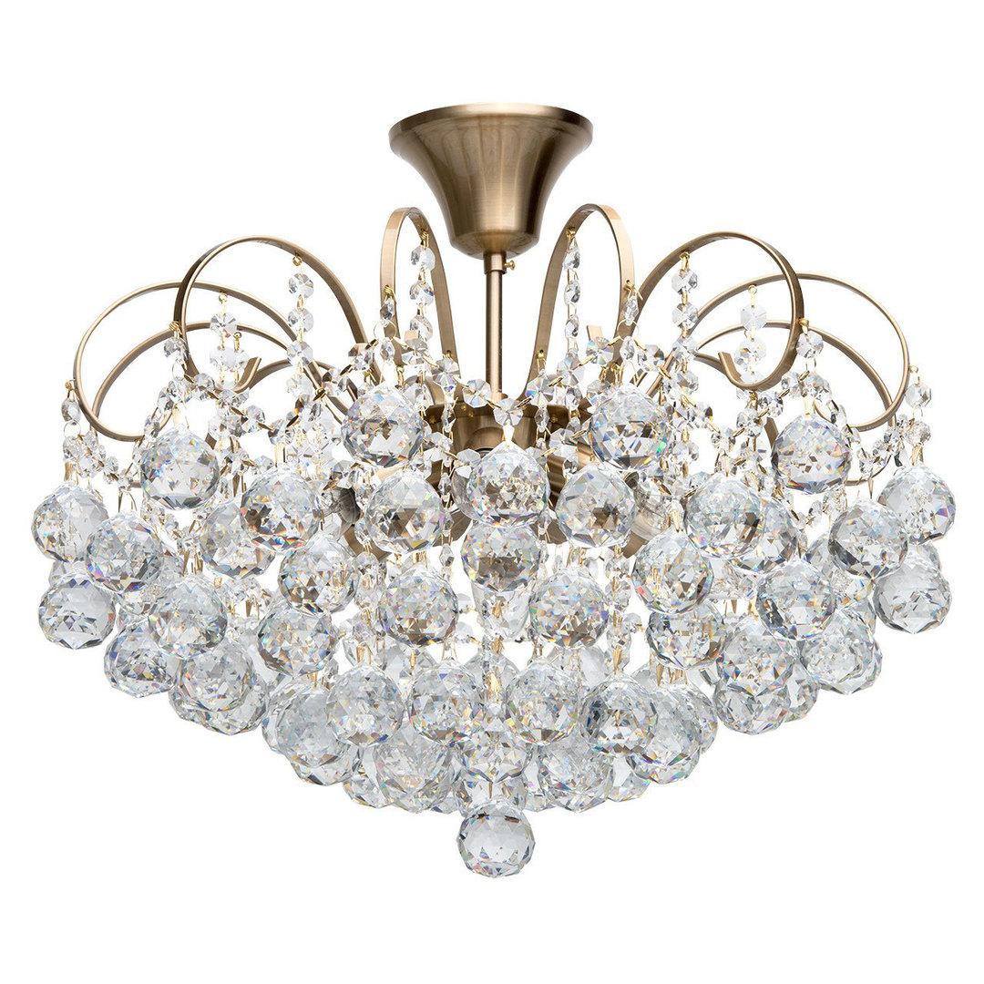 Glamour obývací pokojová lampa Pearl Crystal 6 Brass - 232016506