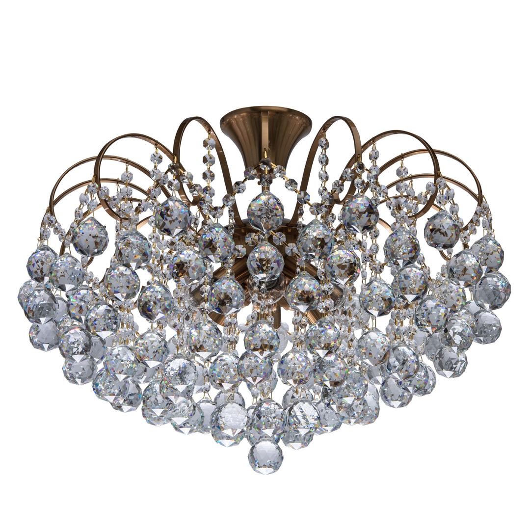 Pearl Crystal 8 závěsná lampa Mosaz - 232016808