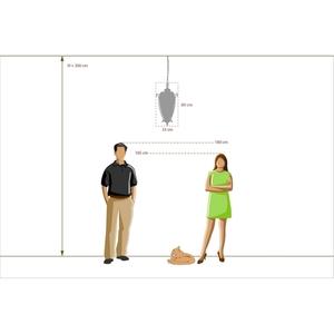 Závěsná lampa Corso Street 3 Mosaz - 802010703 small 9