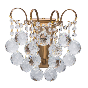 Sconce Pearl Crystal 1 Mosaz - 232028201 small 0