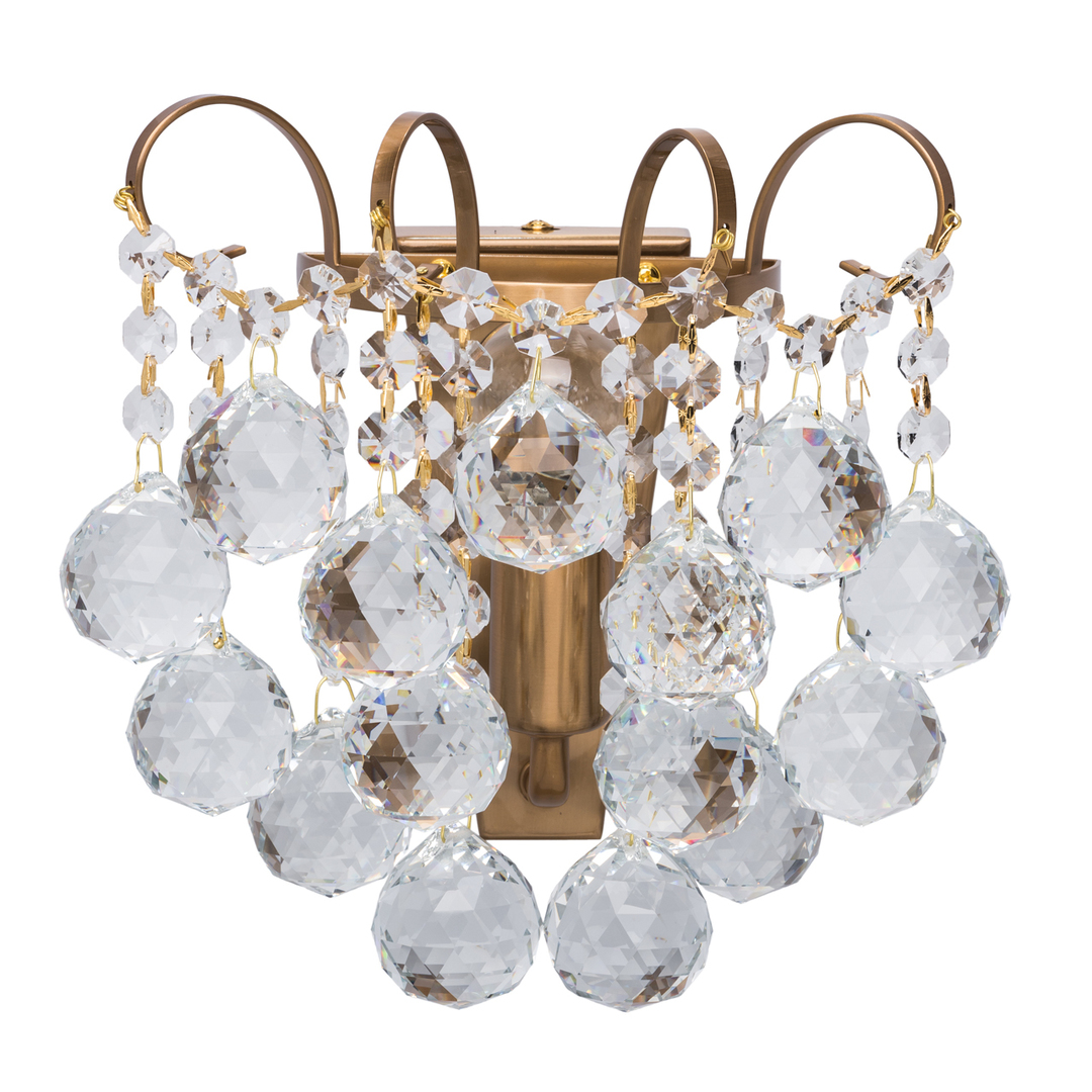Sconce Pearl Crystal 1 Mosaz - 232028201
