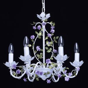 Závěsná lampa Provence Flora 6 bílá - 421014406 small 1