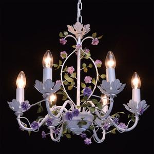 Závěsná lampa Provence Flora 6 bílá - 421014406 small 2