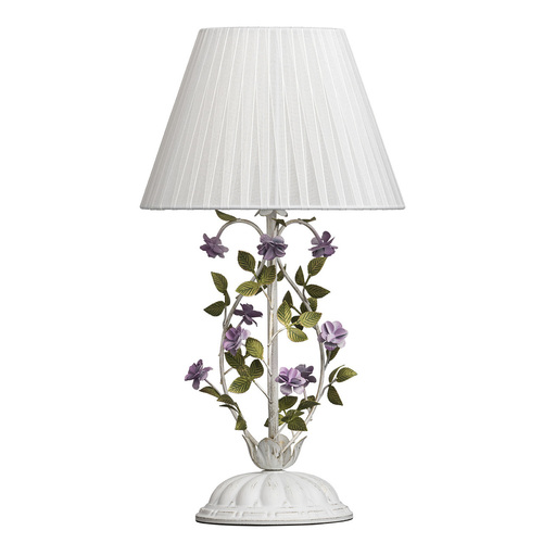 Stolní lampa Provence Flora 1 bílá - 421034601