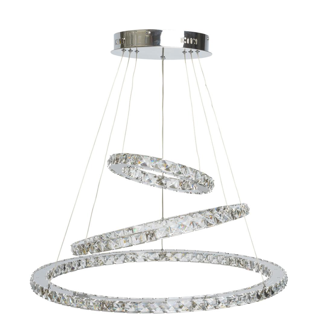Crystal 144 závěsná lampa chrom - 498011903