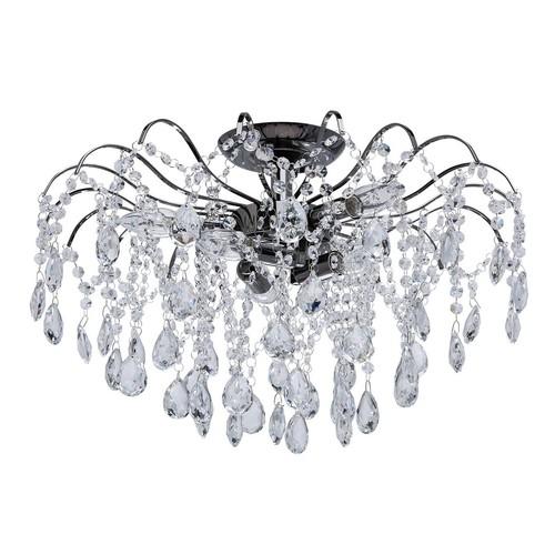 Závěsná lampa Venezia Crystal 6 Šedá - 464017506