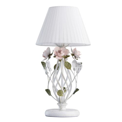Stolní lampa Provence Flora 1 bílá - 421034801