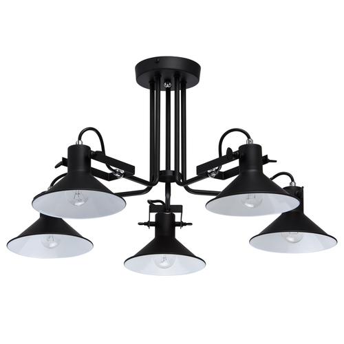 Lampa wisząca Town Loft 5 Czarny - 691010805