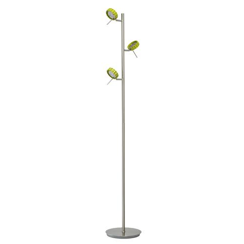 Stříbrná stojací lampa Stuttgart Techno 3 - 705040303