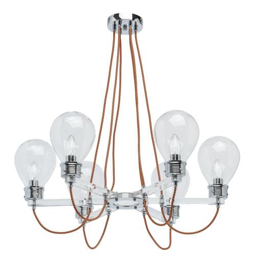 Závěsná lampa Hamburg Loft 6 Chrome - 699010806