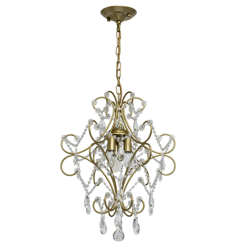 Lampa wisząca Adele Crystal 3 Złoty - 373014503