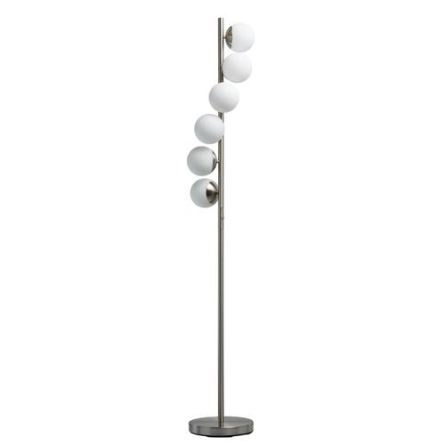 Stříbrná stojací lampa Morpheus Hi-Tech 27 - 710040706