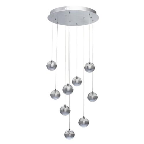 Závěsná lampa Megapolis 9 Silver - 730010209