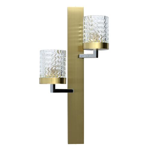 Nástěnná lampa Hamburg Megapolis 2 Brass - 605022002