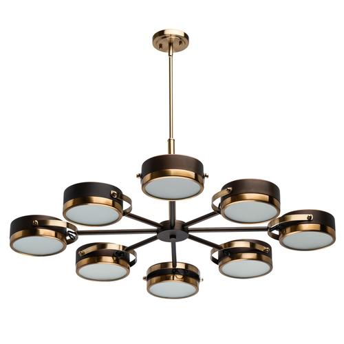 Závěsná lampa Hamburg Loft 8 Mosaz - 605012308