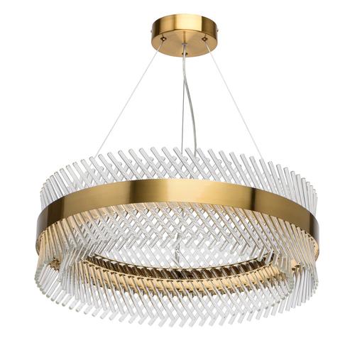 Závěsná lampa Adelard Crystal 52 Mosaz - 642014001