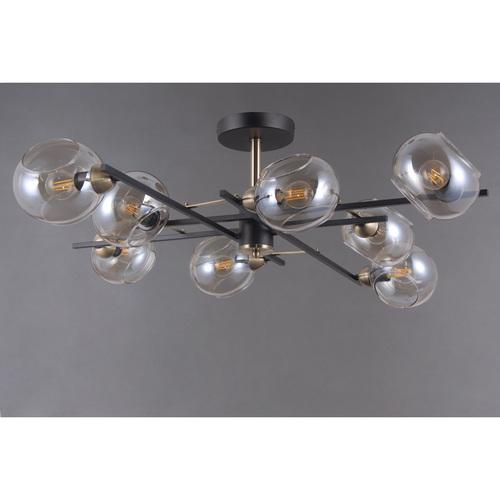 Závěsná lampa Megapolis 8 Černá - 605013908