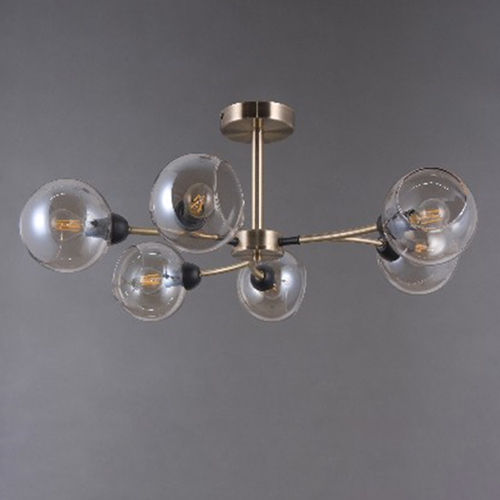 Závěsná lampa Hamburg Megapolis 6 Mosaz - 605014106