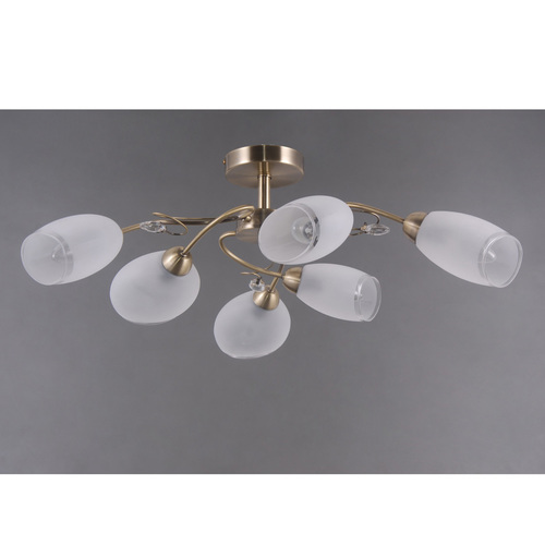 Monica Classic 6 mosazná stropní lampa - 372014006
