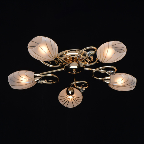 Stropní svítidlo do obývacího pokoje Sabrina Megapolis 5 Gold - 267012005