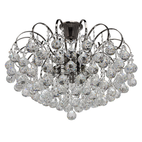 Pearl Crystal 8 závěsná lampa šedá - 232016608