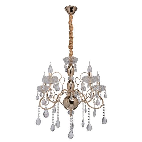 Závěsná lampa Adele Crystal 5 Gold - 373011205